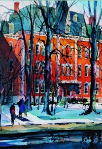 D'Youville watercolor