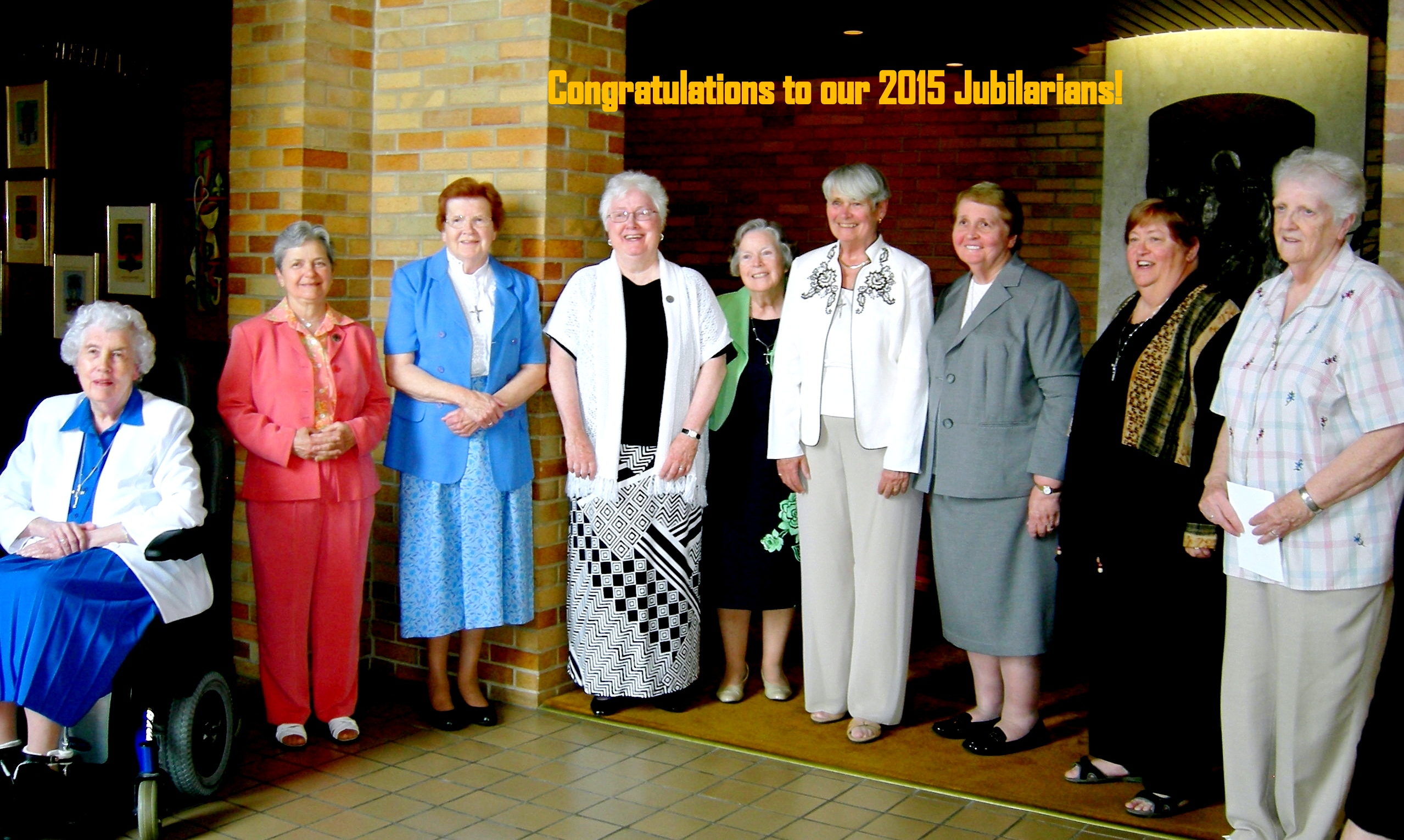 Jubilarians with title