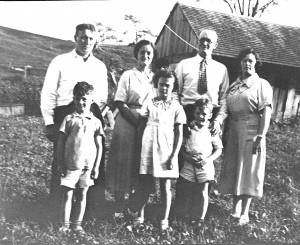 A young Margaret Turner (center) with her family