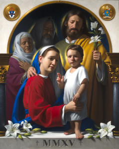 The Holy Family. Neilson Carlin, artisit